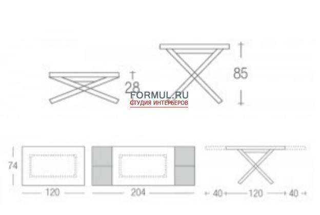 Стол трансформер Eurosedia HIP-HOP