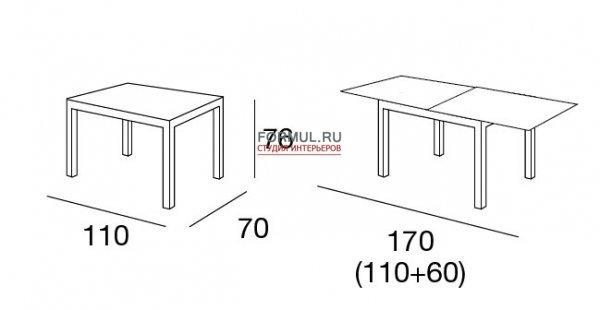 Стол Connubia New Smart CB/4704-V 110