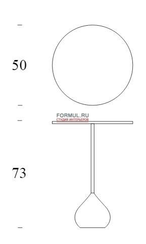 Столик Tonin Casa ADACHI - 8155 H