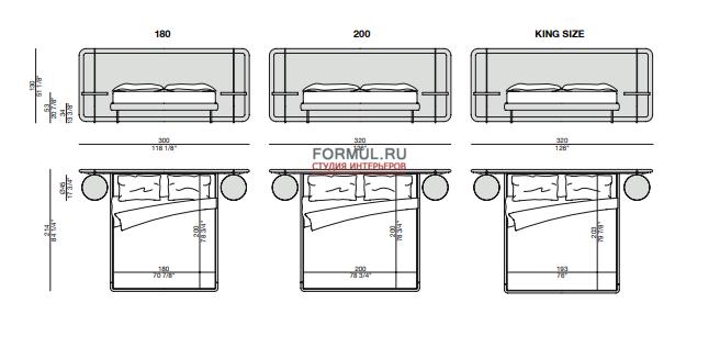 Кровать Porada Killian