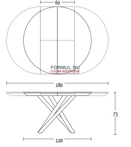 Стол Altacom Fahrenheit Round AT109/120