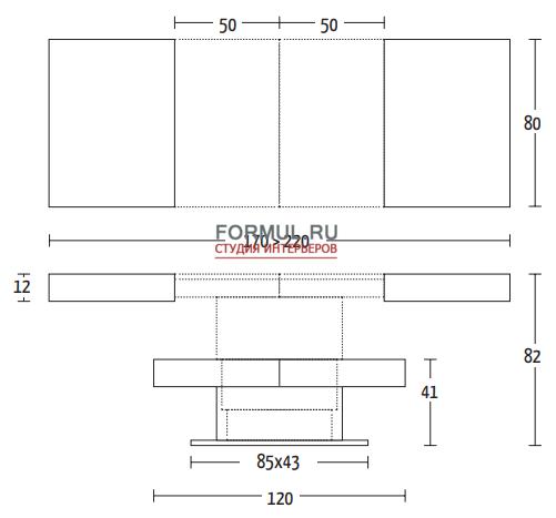 Стол трансформер Altacom Ares Glass