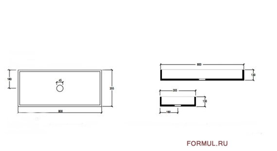 Раковина Bagno Piu Box BXLACOL80FS