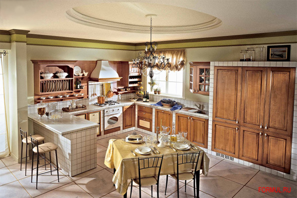 вишневая кухня фото