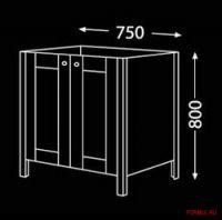 Комплект мебели для ванной Burgbad Finca