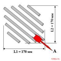 A - Рекомендуемое расстояние между центрами 28 мм