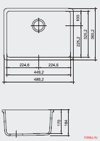 Ширина шкафа: от 50 см